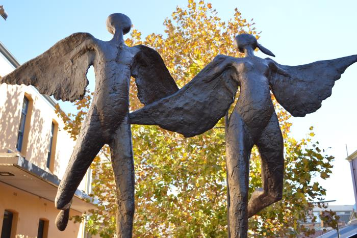 Angels sculpture on Forrest Walk in Subiaco