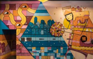Kyle Hughes-Odgers mural at 140 William Street
