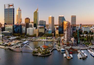 City of Perth Swan River Skyline