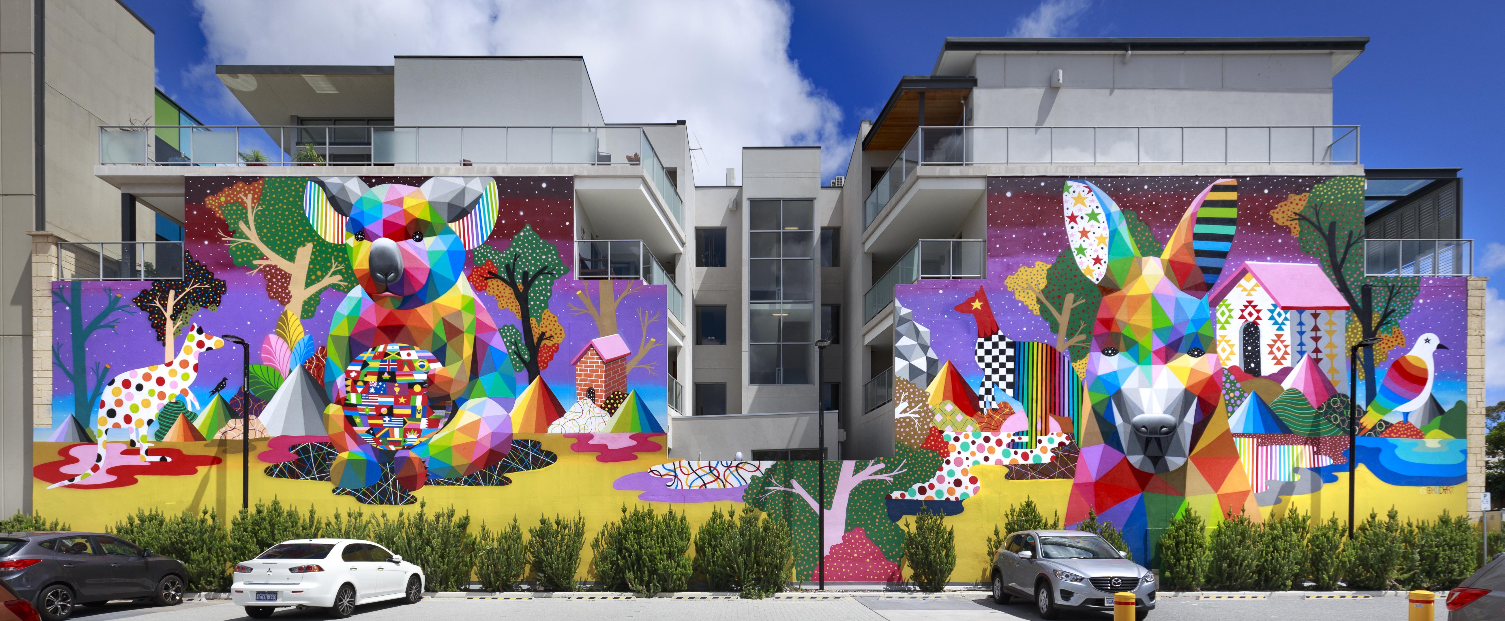 Mural by Okudart