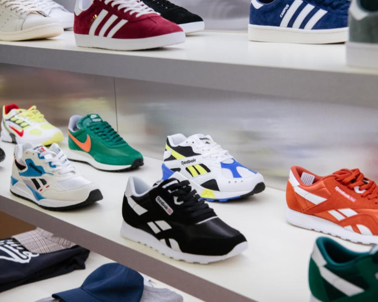 Highs and Lows shoe display