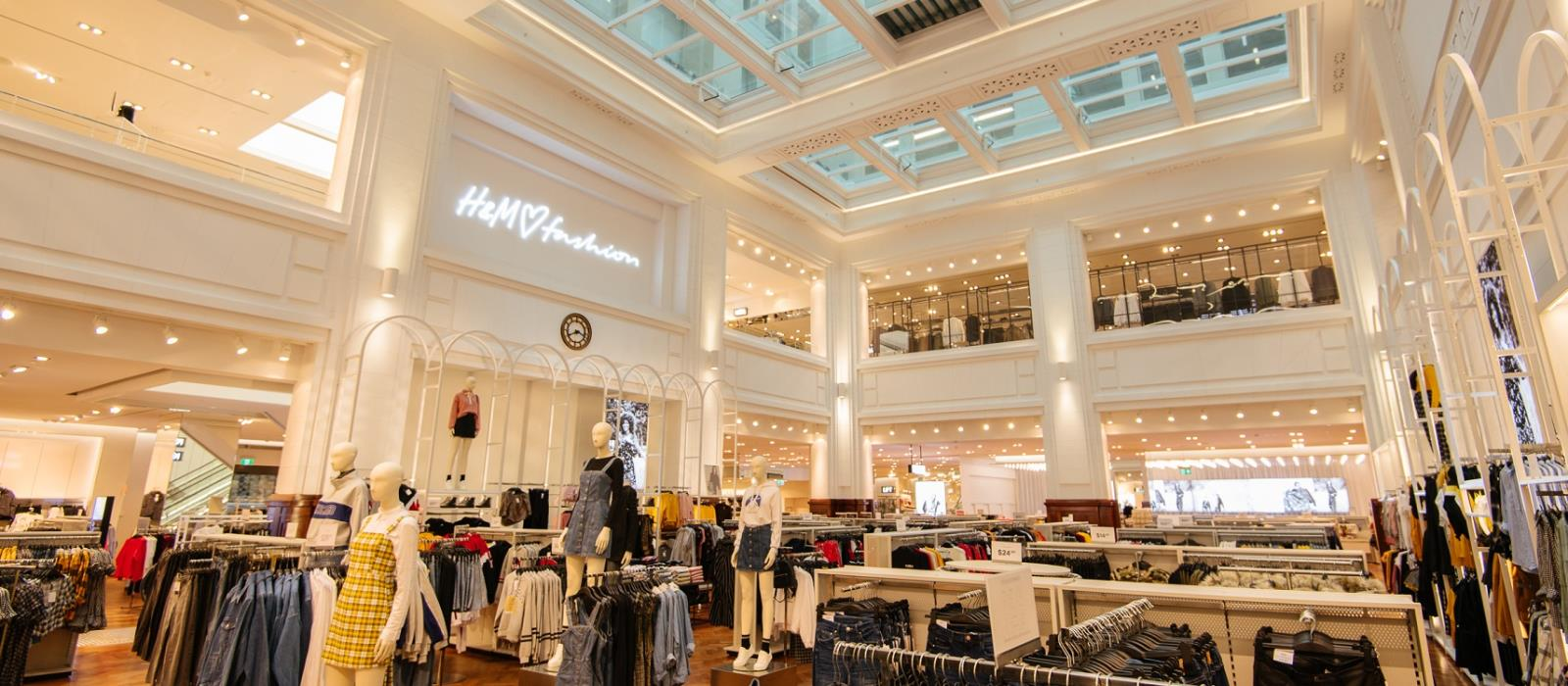 Inside one of Perth City's shopping destinations, H&M